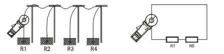 钳形接地电阻测试仪多点接地法